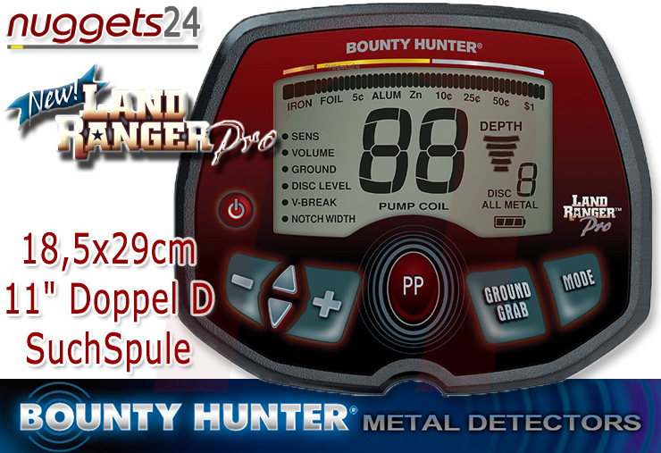 Bounty Hunter Land Ranger PRO Metalldetektor Metallsuchgerät bei nuggets24.de