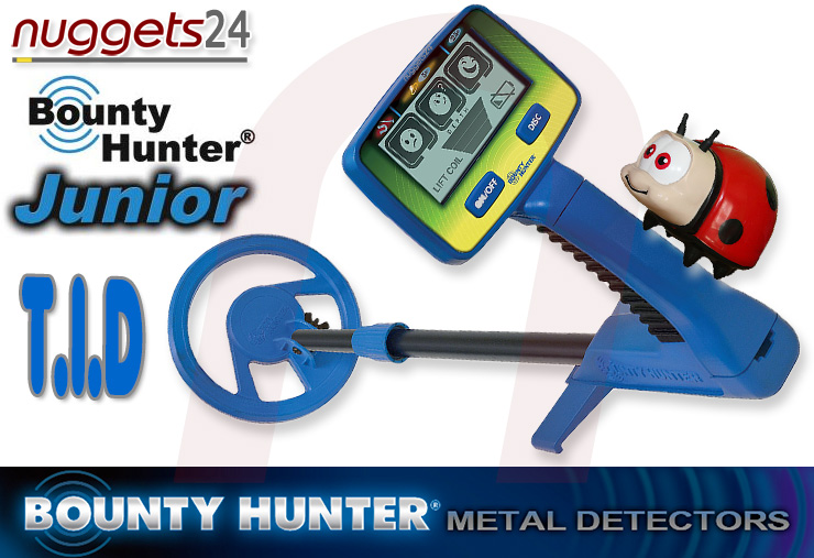 Bounty Hunter Junior T.I.D. TID Metal Detector Metalldetektor für Kinder bei nuggets24com