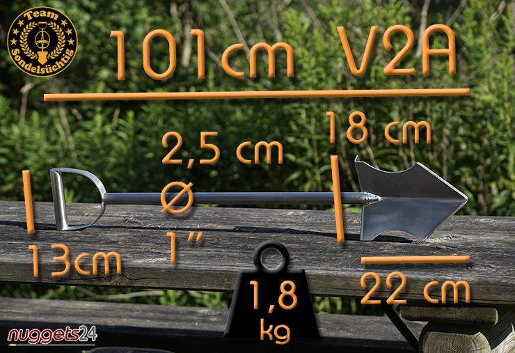 Brutus Maximus XXL 101 cm Spaten Spade Schaufel  für Schatzsucher bei nuggets24.com