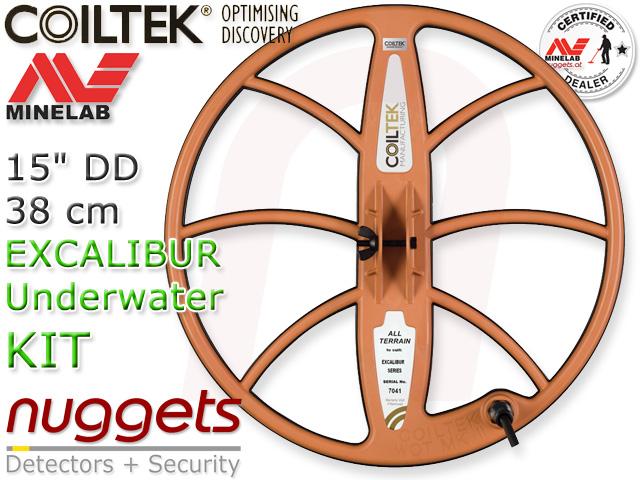 Coiltek Minelab Coil Suchspule Spule Sonde Coils 38 cm Excalibur Underwater UW Detector nuggets