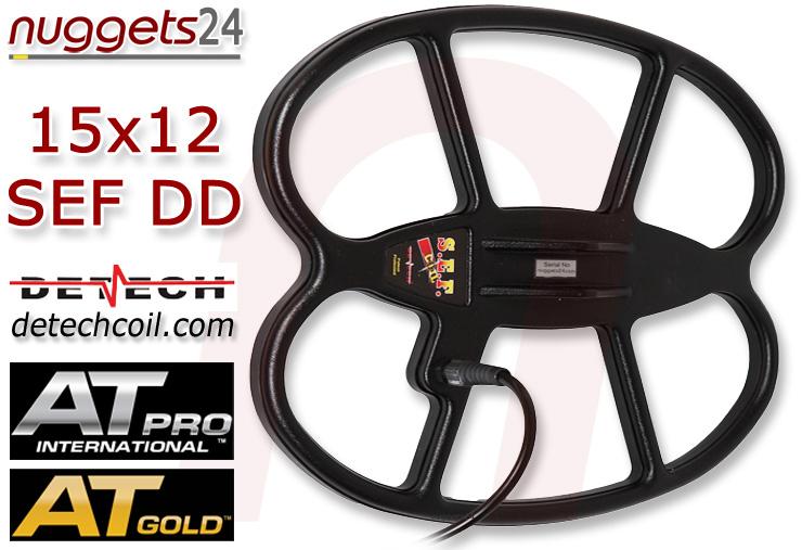 "Detech SEF AT Pro Gold 38x30 cm 15x12"" DD Coil SuchSpule für alle AT Serien www.nuggets24.com"