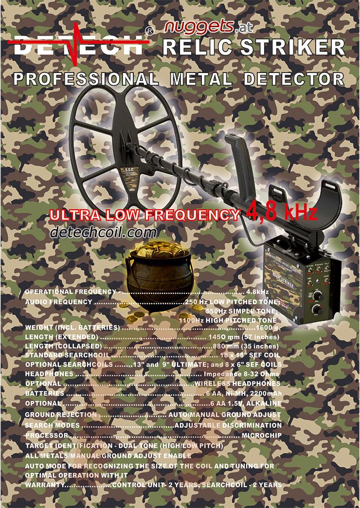 Detech Relic Striker Metal Detektor deep searching nuggets24com