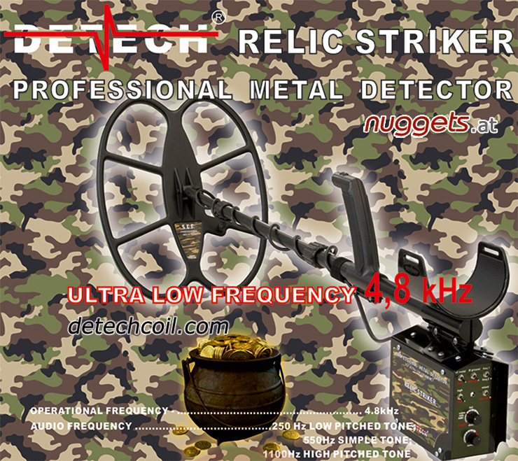 Detech Relic Striker Militaria Metalldetektor bei nuggets sofort lieferbar nuggets24com