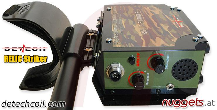Detech Relic Striker nuggets24com Ultra Militaria Deep Search Metal Detector big 18x15 DD coil