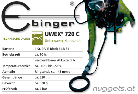 Ebinger UWEX Metalldetektoren www.nuggets.at Online Shop + ShowRoom