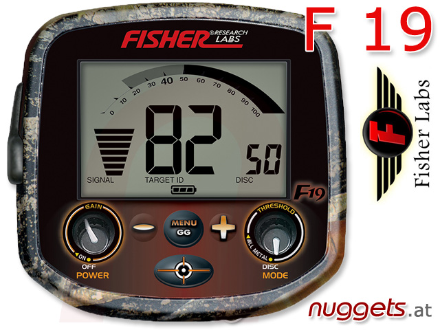 Fisher F19 F 19 camouflage camo Metlldetektor bei nuggets.at kaufen