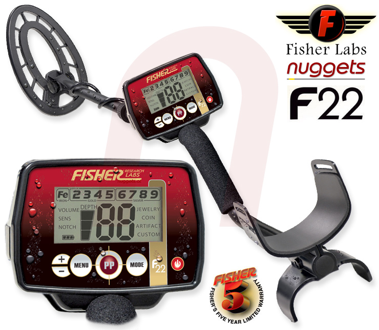 Fisher F22 F 22 Metal Detector Metalldetektor www.nuggets.at