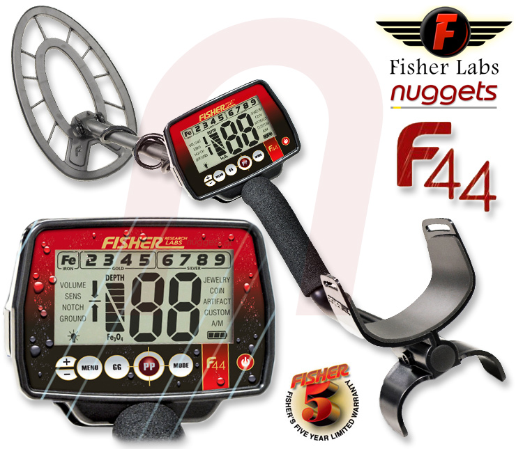 Fisher F44 F 44 Metal Detector Metalldetektor www.nuggets.at