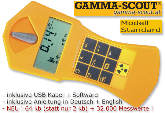 GammaScout bei www.gamma-scout.at auf Lager und sofort lieferbar GAMMA-SCOUT Gamma Scout Geigerzähler Radiation Counter