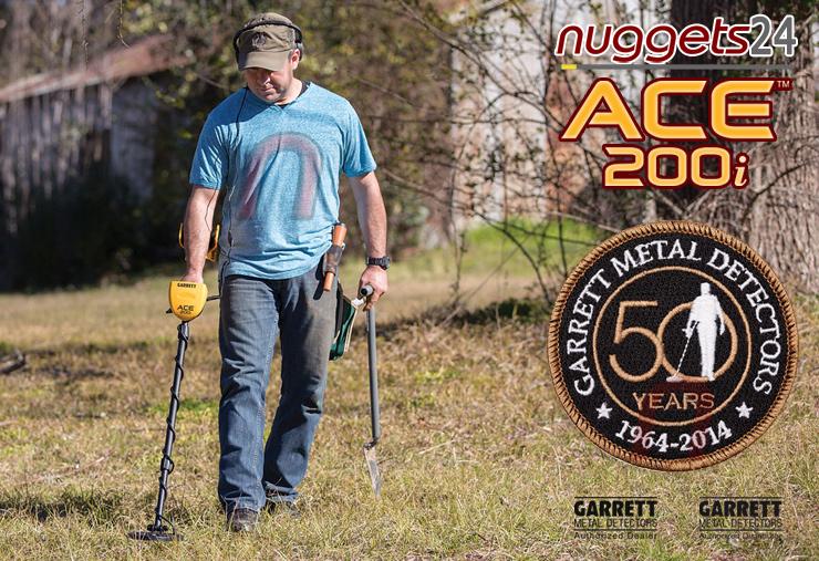 GARRETT ACE 200i 200 i Metalldetektor Online Shop www.nuggets24.de