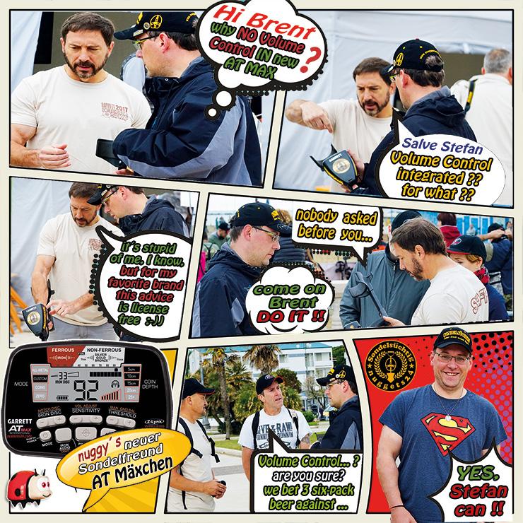 Garrett AT MAX comic volume control added Metalldetektor Metalldetektoren Shop nuggets24.com