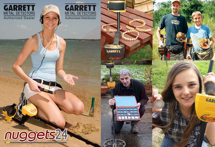 Metalldetektor Sondengänger und Schatzsucher lieben GARRETT Detektoren bei nuggets24.com