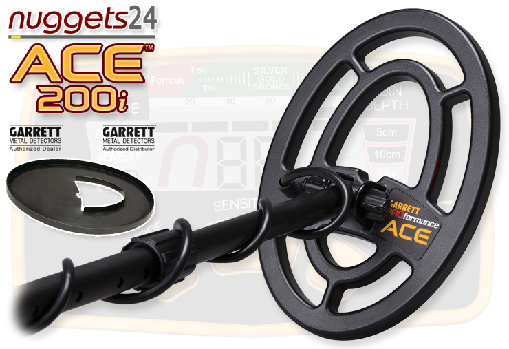 GARRETT ACE 200i 200 i Metalldetektor Online Shop www.nuggets24.de Premium Set