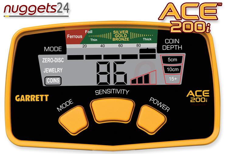 GARRETT ACE 200 i bei nuggets24.de Display Online Shop immer lagernd und sofort lieferbar