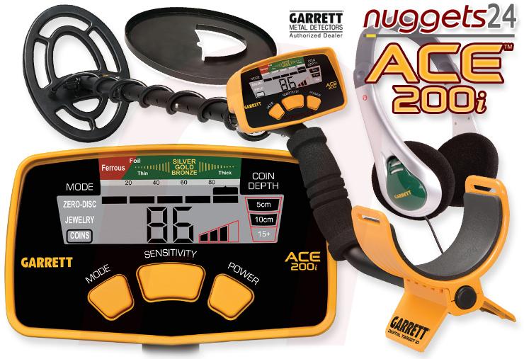 Garrett ACE200i ACE 200 i nuggets24 ACE200 Metalldetektoren Online Shop