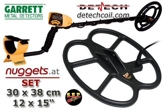 GARRETT DETECH SET www.nuggets.at OnlineShop Metaldetectors