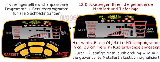 GARRETT Metalldetektor Metal Detector kauft man bei nuggets.at