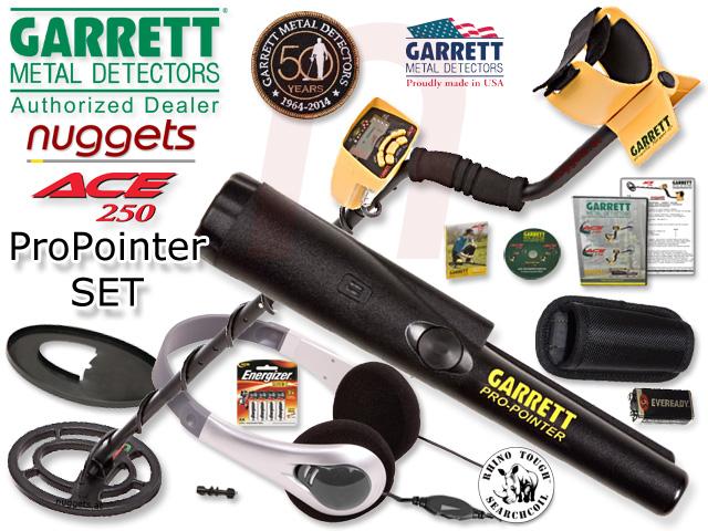 Garrett ACE 250 ProPointer Pin Pointer Metalldetektor SET kauft man bei nuggets.at