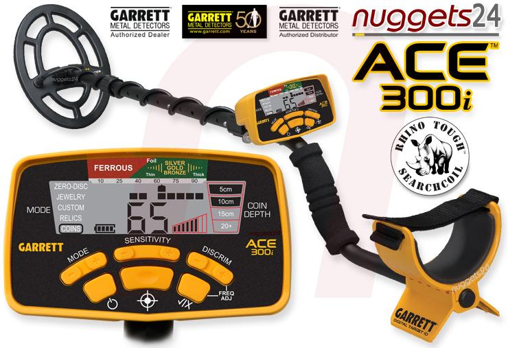 Garrett ACE300i ACE 300 i nuggets24 Metalldetektor Online Shop