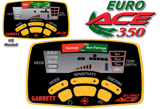 GARRETT EURO ACE 350 Metal Detector Metalldetektor bei www.nuggets.at OnlineShop zum Sonderpreis