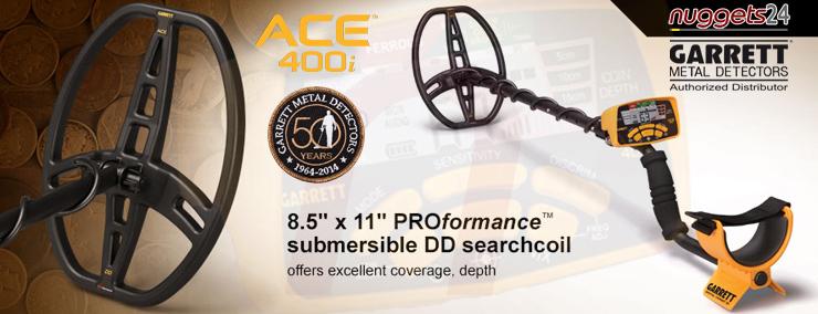 GARRETT ACE 400i 400 ACE400i Metal Detector nuggets24 Online Shop Metalldetektor kaufen