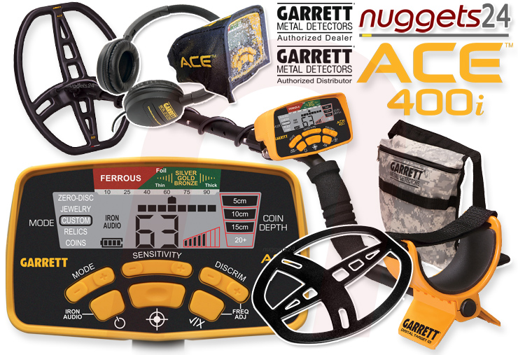 Garrett 400i ACE nuggets24.de nuggets.at Metalldetektor Online Shop Metallsonde