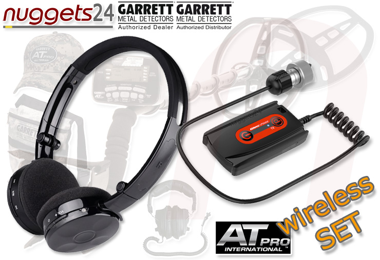 Garrett AT PRO + ATPRO-W wireless inklusive Funkkopfhörer Sonderpreis SET bei nuggets24 Metalldetektor Online Shop