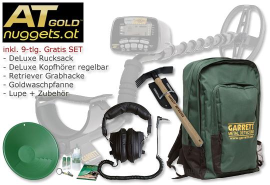Golddetektor Goldsuchgerät ATGOLD von GARRETT inklusive 9x Gratis Extra jetzt bei www.nuggets.at