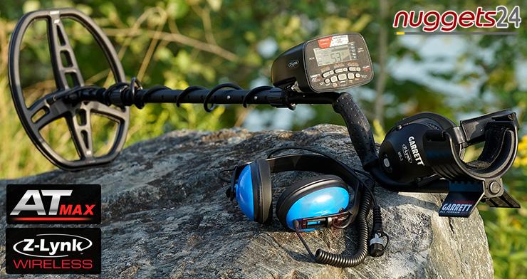 Garrett AT MAX Metalldetektor Metallsonde Sonderangebot inklusive Unterwasser Kopfhörer bei nuggets24 erfragen