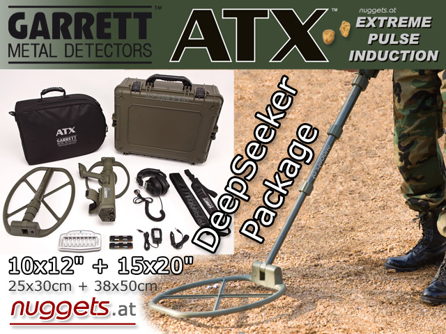 Garrett ATX UXO DeepSeeker Package www.nuggets.at Metal Detector Metalldetektorn Online Shop Detectors Detection Golddetector Gold