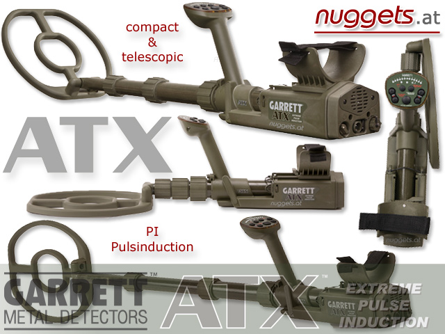 GARRETT ATX Metal Detector Pulsinduction in stock and ready for delivery www.nuggets.at www.garrettatx.eu