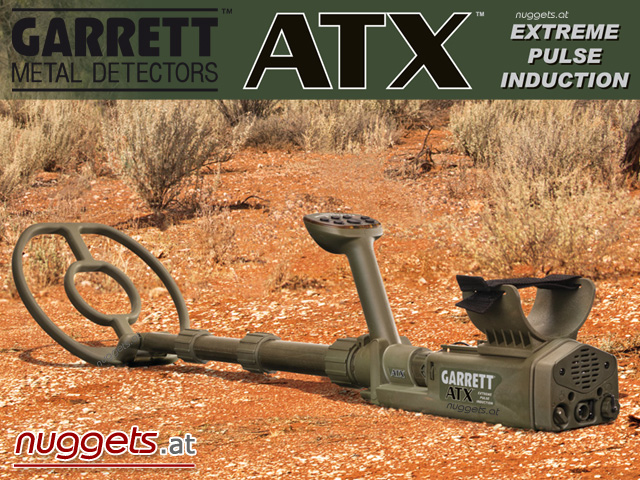 Garrett ATX AT-X Gold Metal Detector Pulsinduktion www.nuggets.at Metalldetektor Online Shop Detektor Detectors