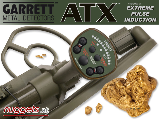 GARRETT ATX Metal Detector for Gold Nuggets Goldsearching Goldsuche Golddetektor Golddetection Goldfind www.nuggets.at