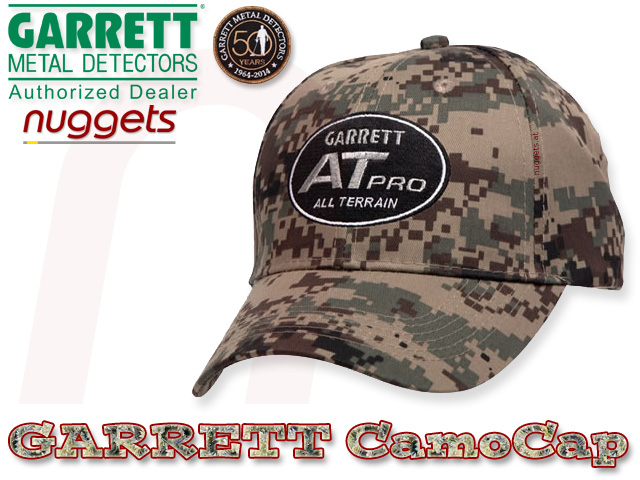 Garrett Cap AT PRO Camouflage www.nuggets.at Metalldetektor Online Shop