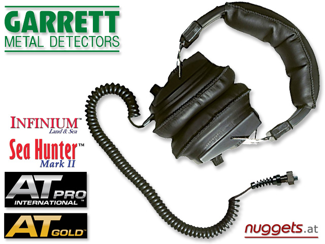 GARRETT Metal Detectors AT Infinium Seahunter Headphone Kopfhörer www.nuggets.at