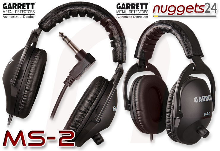 Garrett MS-2 Headphone Kopfhörer Metalldetektor Online Shop www.nuggets24.com
