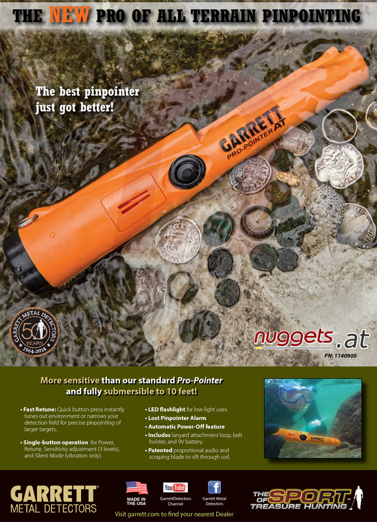 Garrett PRO-POINTER AT waterproof www.nuggets.at Metal Detector Online Shop