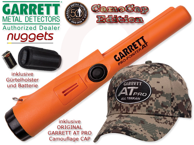 Garrett AT PRO POINTER Pro-Pointer Pin Pointer Probe inclusive Camouflage Garrett CAP nuggets.at