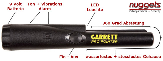 Pro Pointer ProPointer von GARRETT Metalldetektor OnlineShop www.nuggets.at