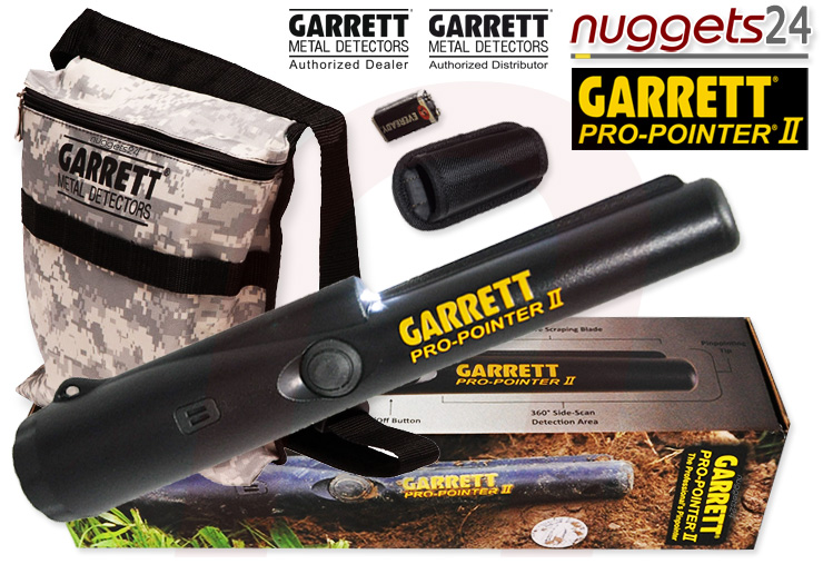 GARRETT ProPointer 2 Pro-Pointer II + Camo Pouch Pin Pointer www.nuggets.at Metalldetektor OnlineShop Metal Detector