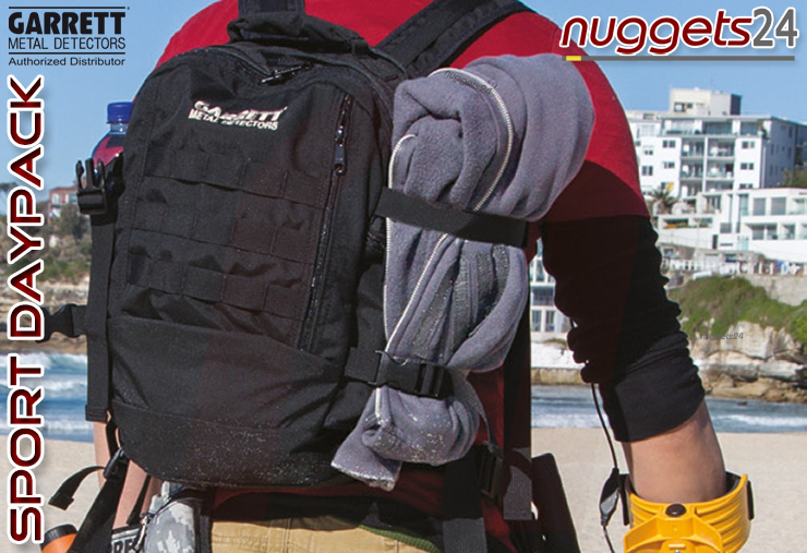 Garrett Sport Daypack Rucksack Backpack Sondengänger www.nuggets24.de Metalldetektor Online Shop