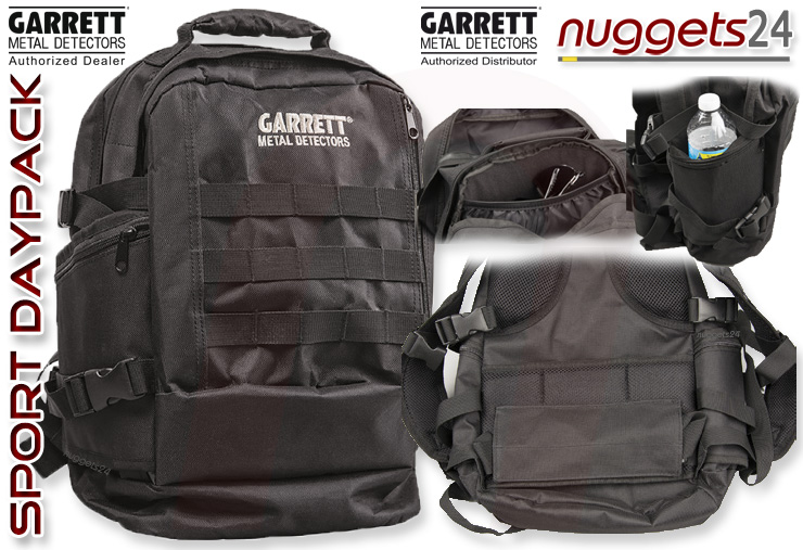 Garrett Sport Daypack Rucksack www.nuggets24.com Metalldetektor Online Shop