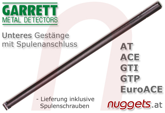 GARRETT parts part stem Gestänge unten mit Spulenanschluss for all models www.nuggets.at