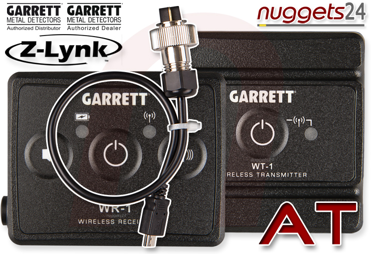 Z-LYNK AT Garrrett wireless headphone Metal Detector Funk Metalldetektor nuggets24