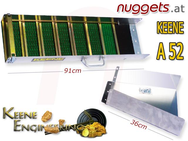 Keene A52 A 52 Goldwaschrinne Rinne Schleuse Gold Goldwaschen Goldsuche nuggets.at