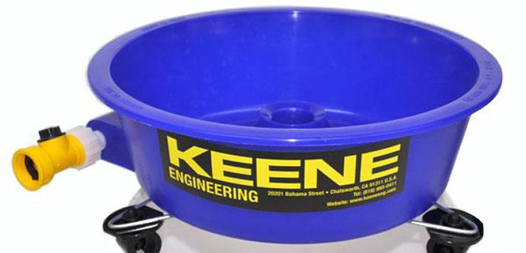 Keene Blue Bowl Gold Concentrating Schüssel nuggets24com