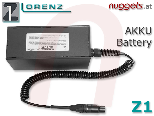 LORENZ Accu Battery Rechargeable for  Z1 Metal Detector Metalldetektor PI Golddetector Golddetektor www.nuggets.at