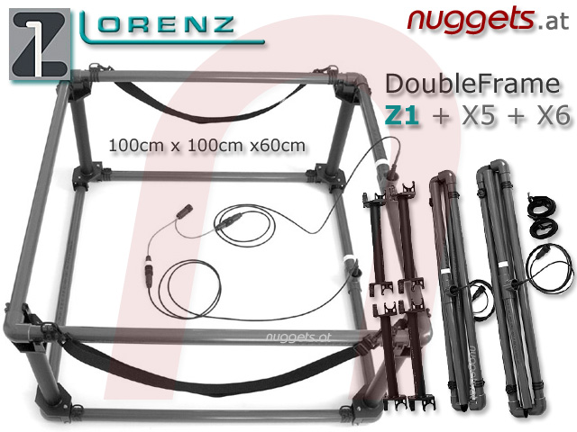 Lorenz DeepMax Double Frame Coil for X5 X6 Z1 Metal Detector in stock and ready for delivery www.nuggets.at