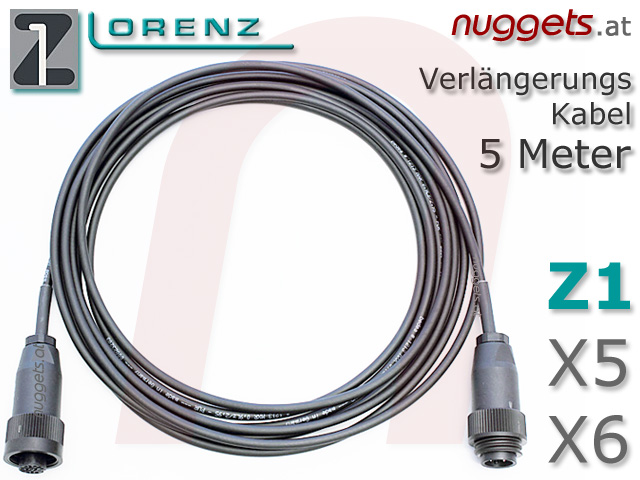LORENZ Extension Cable Fram Coils for Z1 Metal Detector Metalldetektor PI Golddetector Golddetektor www.nuggets.at