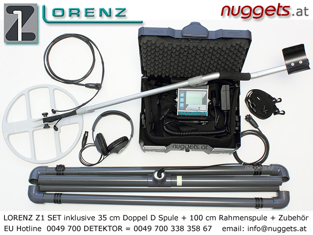 Lorenz Z1 Profi Metal Detector www.nuggets.at www.lorenz-z1.com